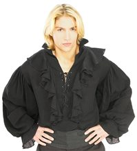 Picture of Black Pirate Shirt Adult Mens Costume