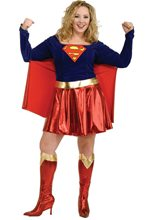 Picture of Supergirl Adult Womens Plus Size Costume