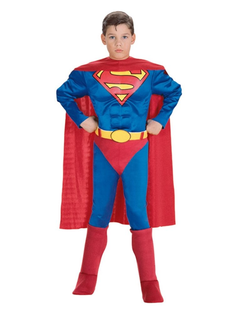 Picture of Deluxe Superman Muscle Chest Child Costume
