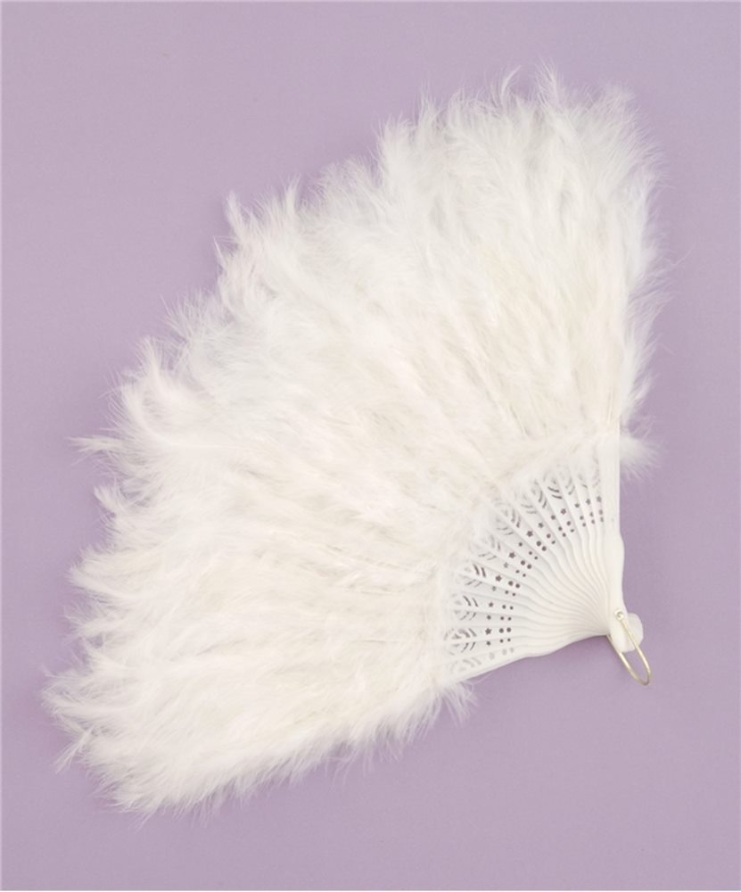 Picture of White Feather Fan