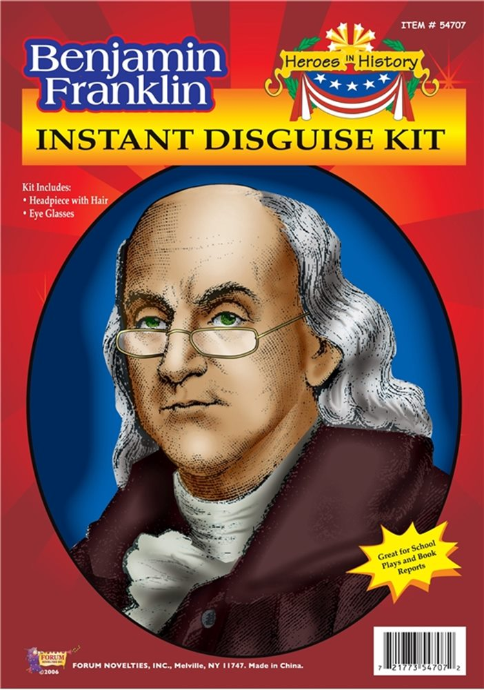 Picture of Benjamin Franklin Instant Disguise Kit