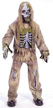 Picture of Skeleton Zombie Child Costume with Pants