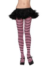 Picture of Black and Pink Striped Tights