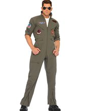 Picture of Top Gun Jumpsuit Adult Mens Costume