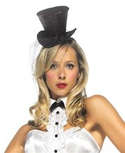 Picture of Black Mini Glitter Top Hat
