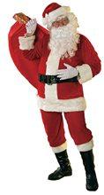 Picture of Velour Santa Claus Suit Adult Mens Costume