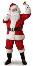 Picture of Plush Santa Claus Suit Adult Costume