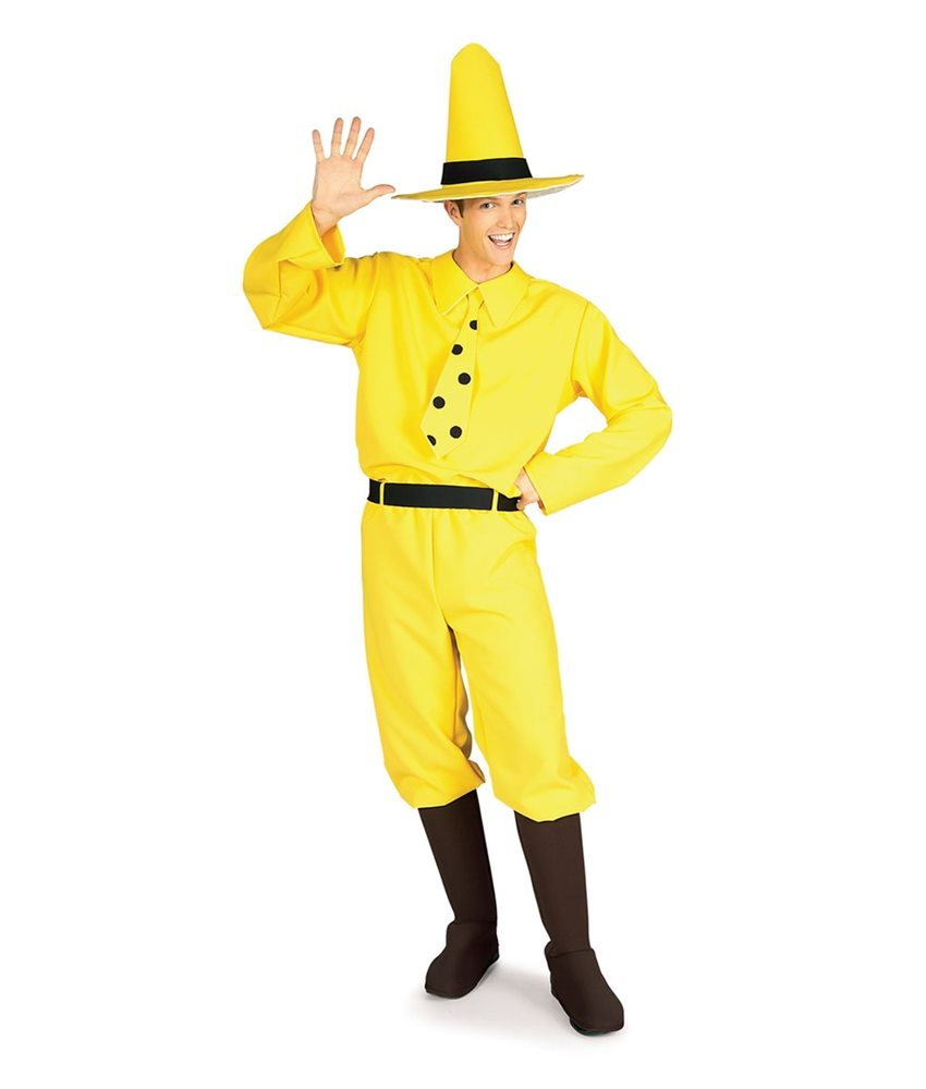 Picture of Yellow Man Curious George Adult Mens Costume