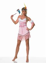 Picture of Indian Warrior 5pc Pink Costume