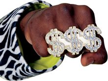 Picture of Three Finger Dollar Ring