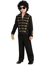 Picture of Michael Jackson Red/Black Military Jacket Child Costume