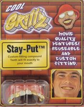 Picture of Grillz Gold Diamond Teeth