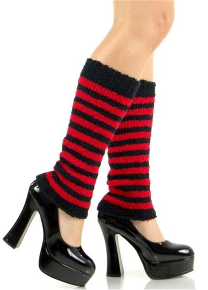 Picture of Fuzzy Striped Arm/Leg Warmers