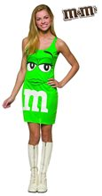 Picture of M&M Green Dress Teen Costume