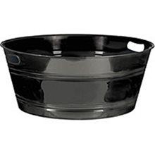 Picture of 20in Black Plastic Tub