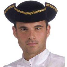 Picture of Tricorner Black Pirate Adult Hat
