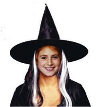 Picture of Deluxe Child Witch Hat With Wig