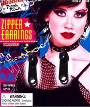 Picture of 80s Black Zipper Earrings