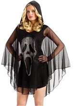 Picture of Scream Ghost Face Sexy Poncho Adult Costume