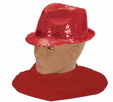Picture of Red Sequin Fedora Adult Hat