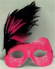 Picture of Hot Pink Camille Glittered Adult Mask