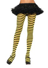 Picture of Black and Yellow Striped Tights