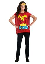 Picture of Wonder Woman Adult Costume T-Shirt With Cape