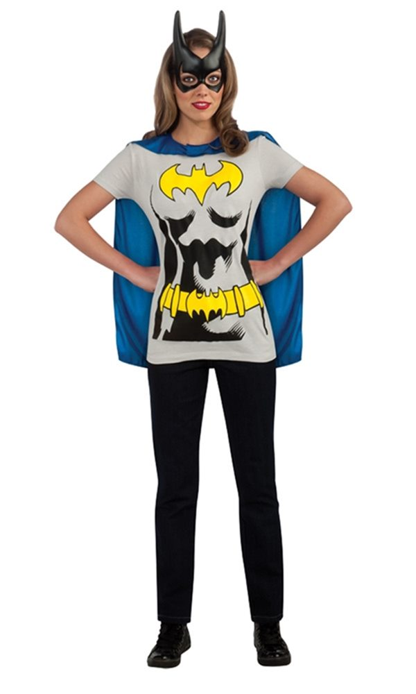 Picture of Batgirl Adult Costume T-Shirt With Cape