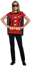 Picture of Miss Robin Adult Womens Shirt & Mask