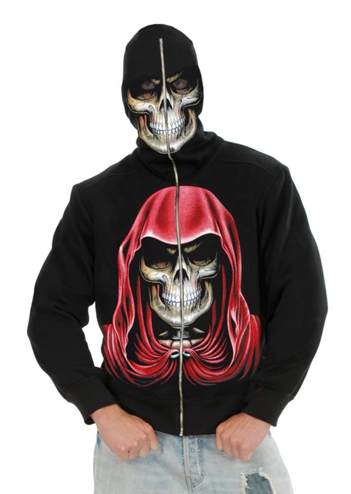 Picture of Evil Empire Reaper Black Zip-Up Hoodie Costume