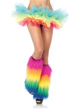 Picture of Furry Rainbow Boot Covers