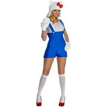 Picture of Hello Kitty Blue Romper Adult Womens Costume