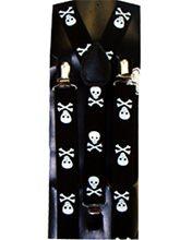 Picture of Black Suspender Belt With Skull Pattern