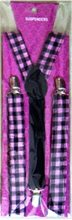 Picture of Black and Pink Checkers Suspenders