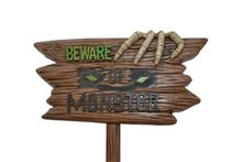 Picture of Beware of Monster Evil Lawn Sign