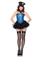 Picture of Captivating Cop Adult Womens Costume