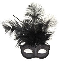 Picture of Venetian Feather Black Mask