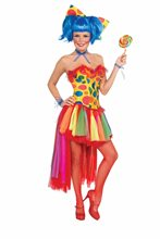 Picture of Pippi Polka Dot Clown Adult Womens Corset