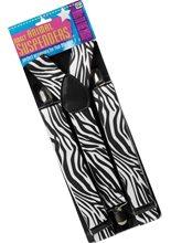 Picture of Black and White Zebra Suspenders Belt
