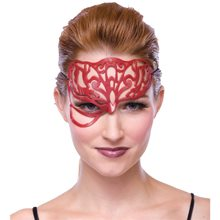 Picture of Red Masquerade Filligree Mask