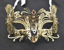 Picture of Metal Venetian With Faux Diamonds Mask
