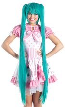 Picture of Long Pigtails Turquoise Cosplay Wig