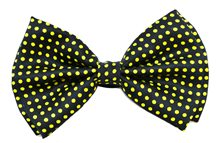 Picture of Black & Yellow Polka Dots Bow-Tie