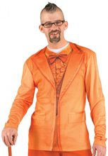 Picture of Orange Tuxedo Adult Mens Shirt