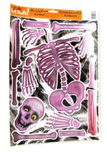 Picture of Pink Hologram Skeleton Clings