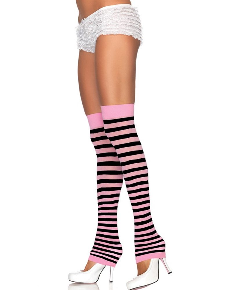 Picture of Opaque Striped Leg Warmers (More Colors)