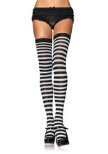 Picture of Nylon Striped Plus Size Stockings