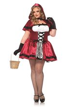 Picture of Gothic Red Riding Hood Adult Womens Plus Size Costume