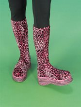 Picture of Groovy Pink Leopard Plush Boots