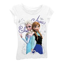 Picture of Disney Frozen Elsa & Anna White Child T-Shirt